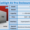 CalDigit AV Pro USB 3.0 HDD / SSD Enclosure Review