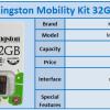 Kingston 32GB microSD Mobility Kit