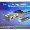 Vantec U320GNA USB 3.0 Dual Port Gigabit Ethernet Adapter
